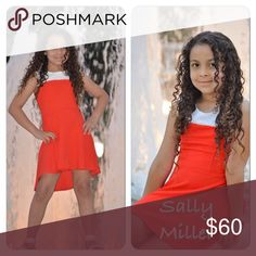NWT girls Sally Miller dress How adorable is this dress? Made by Sally Miller, the guru of tween girl fashion. Her dresses have been featured on shows like dance moms. This adorable red and white dress beach is a Hilow him and is 96% polyester 4% spandex for a comfy stretchy fit. Extremely high-quality. Sally Miller Dresses Casual
