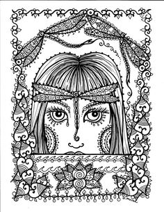 dragonfly heart coloring colouring printable adult advanced detailed