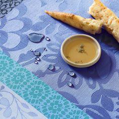 Nappe enduite Provence Enduite Bleu lavande 100% coton - Nappes - La Table - Le Jacquard Français