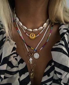 Dainty Jewelry, Cute Jewelry, Beaded Jewelry, Jewelry Accessories, Beaded Necklace, Jewlery, Necklaces, Collar Hippie, Accesorios Casual