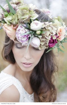 Gorgeous bold floral headpiece by Claudia Heid | Photograph by Corina De Stefani, The Wedding Day | Styled Shoot
