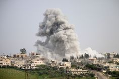 Within 24 hours of U.S. strikes, monitoring groups reported that jets were taking off from the bombedair base once again. Other airstrikes are reported against rebel-held positions in other regions. There were no reports of further chemical weapons use.