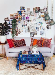Moroccan cushions Flokarti rug textile inspiration