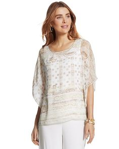 Chico's Travelers Collection Stencil Top #chicos