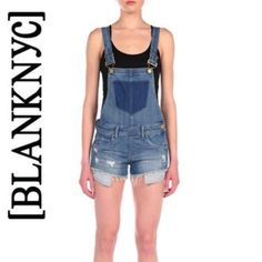 "[BLANKNYC] denim shortalls Super cute [BLANKNYC] denim shortalls ! Never worn! Great for the summer!            Cotton/polyester/spandex Machine wash Imported Adjustable straps, sleeveless, five-pocket silhouette Contrast stitching, side zip closure, faux color block chest pocket Frayed hem, distressed, faded 8.5"" rise, 2.5"" inseam, 23"" leg opening Blank Denim Pants Jumpsuits & Rompers"