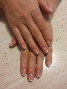 French manicure with semilac