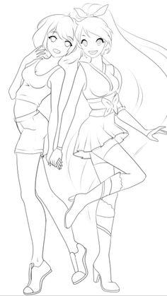 Cute Lesbian Couples, Anime Couples, Female Anime Hairstyles, How To Draw Anime Hair, Ninja Art, Anime Devil, Art Diary, Anime Wallpaper Live, Beautiful Anime Girl
