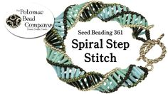 "This video tutorial from The Potomac Bead Company teaches you how to make our ""Spiral Step Bracelet"" using your color choice of Miyuki Bugles and 11/0 seed b..."