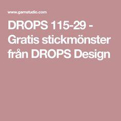 DROPS 115-29 - Gratis stickmönster från DROPS Design