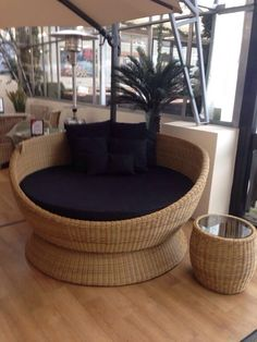 Outdoor Swivel Bed on display at one of our stockists