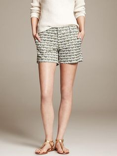 Banana Republic Elephant Monogram Shorts in Canopy green...own these!