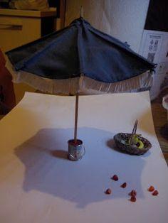 Ombrellone miniature 1:12 beach umbrella