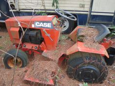 Case 224 lawn tractor with tiller attachments, $300 all. (Not running)