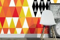 Kockás,retro,geometriai mintás,fehér,fekete,lila,piros-bordó,narancs-terrakotta,sárga,gyengén mosható,vlies panel, fotótapéta