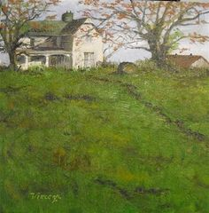 """""""White House on the Hill ~ 12x12~ oil on canvas"""" -$300.00 Original Fine Art for Sale - © Vincenza Harrity"""