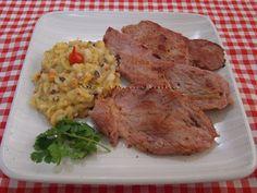 Virado de Feijão de Corda com Bifes de Carne de Sol - Na Biroskinha
