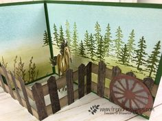 May Customer Appreciation at Frenchie - Frenchie Stamps Z Cards, Fun Fold Cards, Card Tags, Folded Cards, Cool Cards, Stampin Up Cards, Horse Cards, Horse Birthday, Westerns