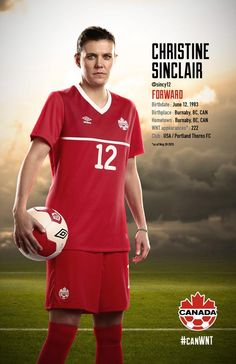 Christine Sinclair is the type of player I want my daughter to be like. She is a fantastic example of a class act athlete. Football Players Images, Female Football Player, Good Soccer Players, Worldcup Football, Football Soccer, Hockey, Canada Soccer, Club Usa, Soccer Quotes