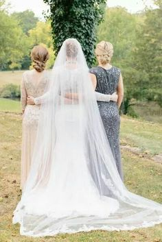 Maid of honor, bride, mother of the bride