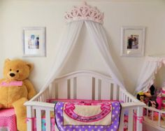 Canopy bed with jewels Bed crown canopy princess nursery
