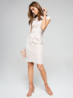 For up-to-the-minute looks that are fast, fresh and ever evolving. Lace Dress, Fashion Dresses, Bodycon Dress, Dresses For Work, Clothes For Women, Spring, Tops, Fashion Show Dresses, Outerwear Women