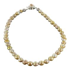 KASUMI PEARL NECKLACE ROSE GOLDEN 9-10mm from New World Gems