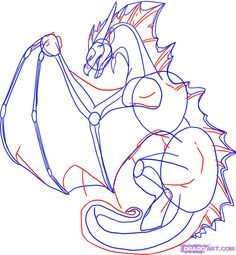 Draw a Dragon Back View, Step by Step, Drawing Sheets, Added by ...