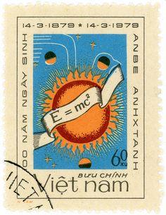 Vietnam postage stamp: Einstein