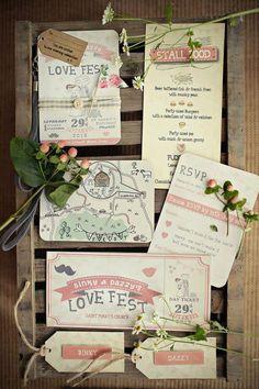 LoveFest Wedding invitations on Etsy, £1.50