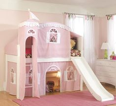 Rosenberry Rooms has everything imaginable for your child's room! Share the news and get $20 Off  your purchase! (*Minimum purchase required.) Cottage Twin Loft with Tent Options in White