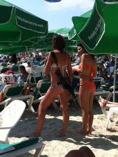 """Today's """"Only In Israel"""" Photo Just a couple of women in bikinis at the beach…"""