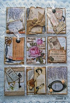 Scattered Pictures and Memories: Vintage Pocket Letter ~ Meg's Garden DT Atc Cards, Journal Cards, Junk Journal, Bullet Journal, Pocket Pal, Pocket Cards, Pocket Scrapbooking, Scrapbook Pages, Project Life Cards
