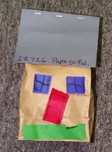 H is for House House Craft for Address.  Stuff with recycled paper