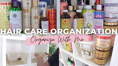 Watch me organize my hair care products! Healthy Relaxed Hair, Healthy Hair, Relaxed Hair Journey, Declutter, Organize, Care Organization, Voluminous Hair, Hair Regimen, Deep Conditioner