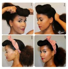 "Natural Hair How-To : 3 Vintage Styles For Fall | the LAYER The ""Pin Up Girl"""
