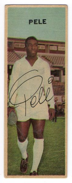 1968 Pele Football Icon, School Football, Sport Football, Football Stickers, Football Cards, Football Shirts, Good Soccer Players, Football Players, Fifa
