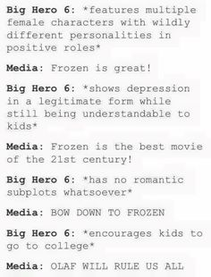 Not that Frozen isn't awesome too, but BH6 is just SO AWESOME.