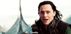 "Tom Hiddleston ""Loki"" The answer to the question ""Are you mad?"""