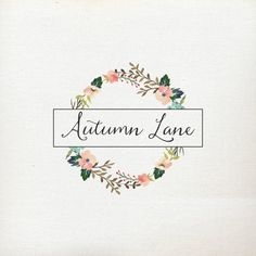 Pre-Made Logo  Premade Logo  Flower Logo  by AutumnLanePaperie