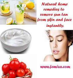 Mix a tablespoon of yogurt, lemon juice, and  of the tomato pulp. Apply the mixture on face and the affected skin for 30 minutes.wash out with cold water.