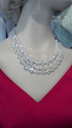 Vintage Graduation Three Strand Crystal by WeddingDressMeLovely, $33.99