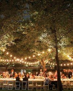 outdoor wedding lights