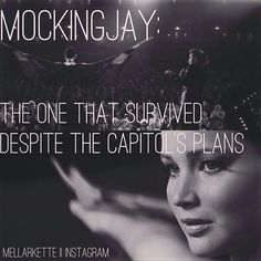Hunger Games Quote / Mockingjay / Catching Fire / Katniss