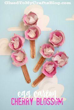 Egg Carton Cherry Blossom - Kid Craft