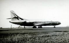 F-BJAO Caravelle III c/n 42 at Essendon in April 1962. This aircraft was demonstrated in SE Asia and Australia in April/May 1962 and TAA in particular were very impressed and wanted to place an order for some. Government policy of the day (meddling) claimed that TAA ( a government owned airline) were not ready for pure jet operations and sided with Ansett who wanted Electra's and TAA followed with an order of their own for 3 Electra's!