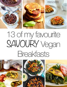 Savoury Vegan breakfast ideas are hard to find! This is a great round up      |     Organize your favourite recipes on your iPhone or iPad with @RecipeTin! Find out more here: www.recipetinapp.com      #recipes #vegan #brunch #breakfast