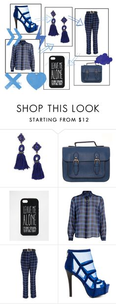 """Sem título #12795"" by nathsouzaz ❤ liked on Polyvore featuring BaubleBar, ASOS, River Island and Two Lips"