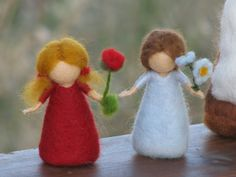 Items similar to Needle Felted Root children - Sibylle von Olfers Inspired on Etsy Wool Dolls, Felt Dolls, Fabric Dolls, Crafts To Do, Felt Crafts, Fabric Crafts, Arts And Crafts, Christmas Figurines, Felt Christmas