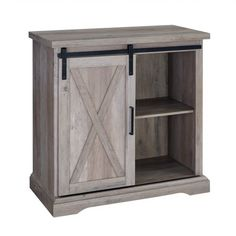Shop a great selection of Walker Edison Furniture Company 32 Rustic Farmhouse Barn Door TV Stand - Grey Wash. Find new offer and Similar products for Walker Edison Furniture Company 32 Rustic Farmhouse Barn Door TV Stand - Grey Wash. Farmhouse Buffet, Farmhouse Cabinets, Rustic Cabinets, Farmhouse Furniture, Rustic Farmhouse, Beach Furniture, Loft Furniture, Building Furniture, Farmhouse Front