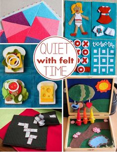 10 + quiet time felt activities to help keep kids quiet during nap time